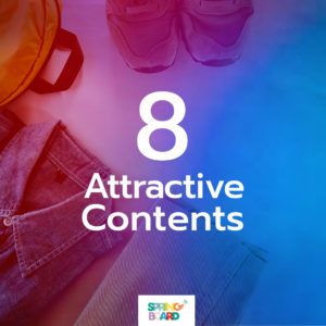 8 attractive contents - The Social Media Package by Springboard Solutions